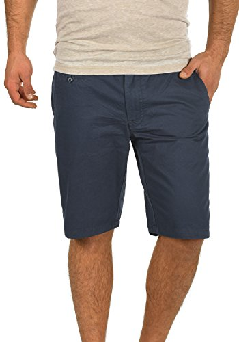 BLEND Sasuke Herren Chino Shorts kurze Hose, Größe:M;Farbe:India Ink (70151) Straight Leg Cord