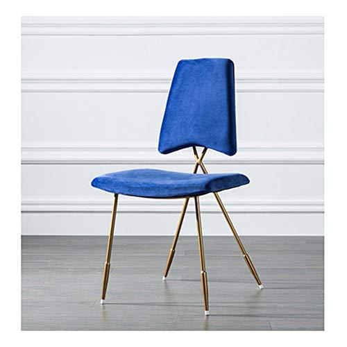 Moderne Geschmiedete Eisen (Esszimmerstuhl, mit Netzstoff, geschmiedetes Eisen, modern, minimalistisch, lässig, Persönlichkeit, Lazy Home, Material, 3, Large)