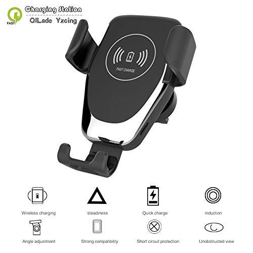 QILade Yzcing Auto-Berg-Qi-drahtloses Ladegerät, 15W / 10W / 7.5WAutomatic klemmendes schnelles Auto-Aufladen-Telefon-Halter für iPhone XS Max X XR 8 Samsung Huawei Xiaomi