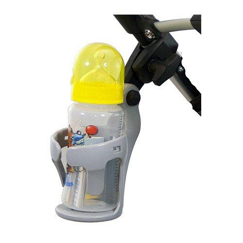 Universal Getränkehalter für Kinderwagen und Buggy grau