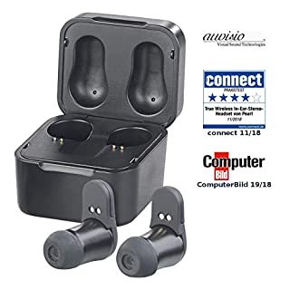auvisio in Ear, Bluetooth: True Wireless In-Ear-Headset, Powerbank-Etui, Siri- & Google-kompat. (Wireless Kopfhörer)