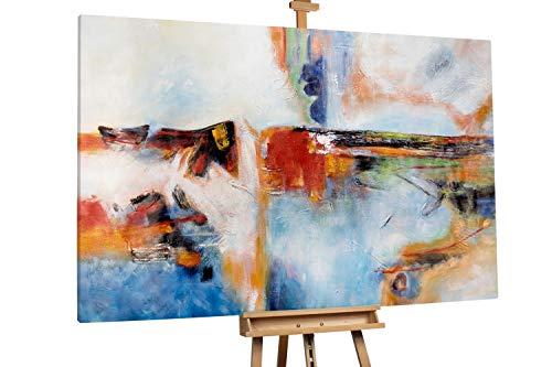 'Way to Go' 180x120cm | Abstrakt Bunt Punkt XXL | Modernes Kunst Ölbild