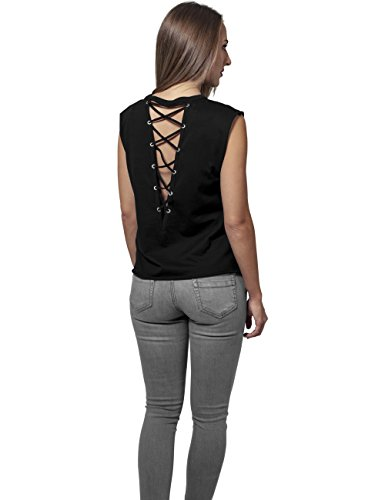Urban Classics Femme Hauts / Top Jersey Lace Up Noir
