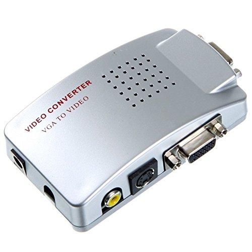 Conversor adaptador de vídeo de VGA a AV, RCA y S-Video para monitor de ordenador y proyectores