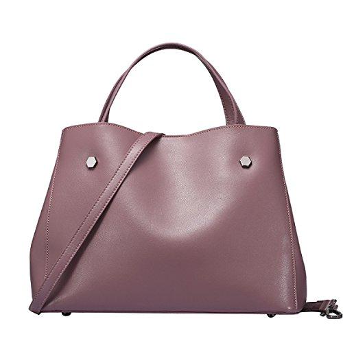 ZPFME Frauen Handtasche Leder Einfach Mädchen Party Retro Damen Mode Damen  Tasche Umhängetasche Handtasche Messenger Bag f36bda18d2