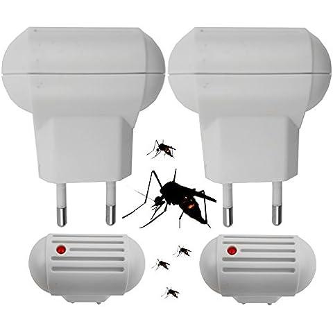 2x Mücke Ver driver protezione dagli insetti zanzare, insetticida repellente per zanzare