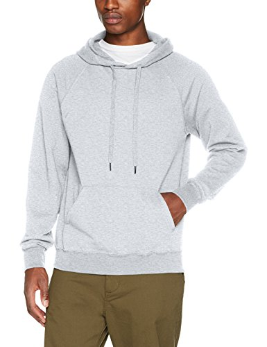 Fruit of the loom Herren Sweatshirt Lightweight Hooded Sweat,Grau (Heather Grey 123),Large (Hooded Pullover Lightweight)
