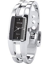5bc02f403e9b Kimio Mujeres Brazalete Cuarzo Pulsera Reloj Negro