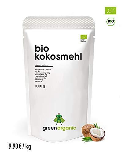 BIO PREMIUM KOKOSMEHL - lower-Carb, glutenfrei, vegan, entölt, proteinreich, ballaststoffreich, Paleo Superfood, nachhaltig und fair angebaut, 1000g -