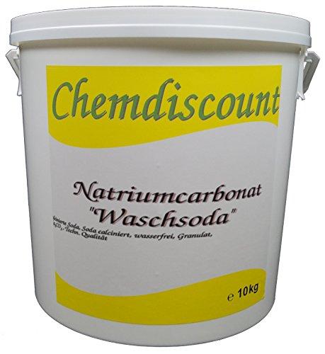 10kg Soda (Waschsoda Natriumcarbonat Na2CO3 calcinierte Soda) Granulat im Eimer, versandkostenfrei!