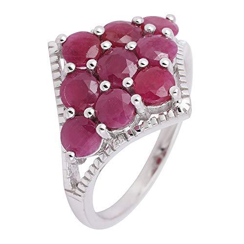 Banithani argent 925 pierres précieuses rubis Bague Bijoux fantaisie