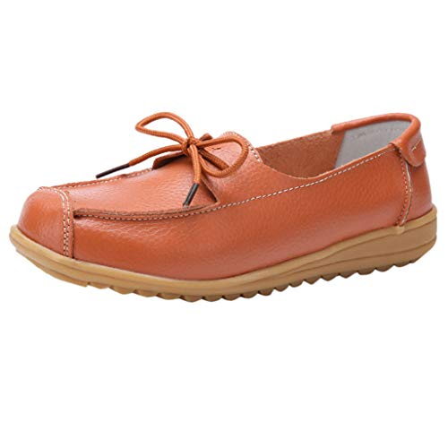 385d245c57628 Womens Casual Boat Deck Shoes Leather Super Comfy Loafers Moccasins Flat  Boat Shoes Lace