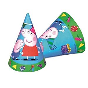 New Peppa Pig Party Range - Peppa Pig Party Cone Hats x 6