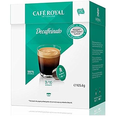 Café Royal Decaffeinato, Caffè, Compatibile Nescafé Dolce Gusto, 6 x 16 Capsule
