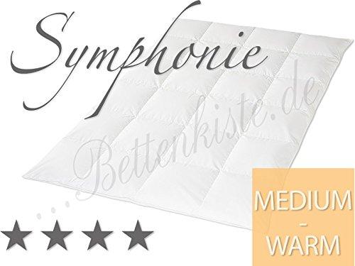 Hanskruchen Symphonie - Medium - Ganzjahres Daunendecke, 200x200 cm, Kassettendecke