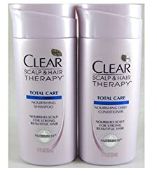 Travel Size Clear Scalp & Hairtm Total Care Nourishing Shampoo And Conditoner, 1.7 Fl Oz Each