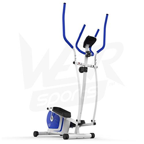 We R Sports Elliptisch ?berqueren Trainer & ?bung Fahrrad 2-in-1 Zuhause Cardio- Training (Blau) - 9