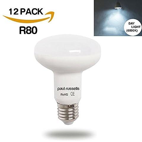 12Pack 12W Led-Reflektor-Leuchtmittel E27ES Edison Schraube Paul Russel Bright 12W = 100W Spot R80Spot Licht 270Beam Lampe 6500K Tag Licht 100W Glühlampe Ersatz