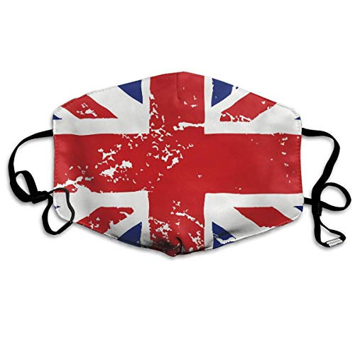 Fashion Earloop Face Mask, Anti-Dust Anti Flu Bacteria Mouth-Muffle with Adjustable Elastic Band - Windproof British Flag Crack Half Face Mouth Medical Mask Flag-peeling