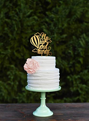 per, Up Up and Away Party Cake Topper, Hot Air Balloon Baby Shower Decor, Graduation Cake Topper ()