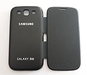 MVTH Metal Back Flip Cover for Samsung Galaxy S 3 - BLACK