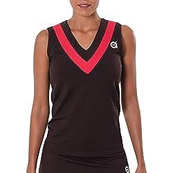 a40grados Sport & Style Cloe - Camiseta sin Mangas para Mujer, Color marrón, Talla 38