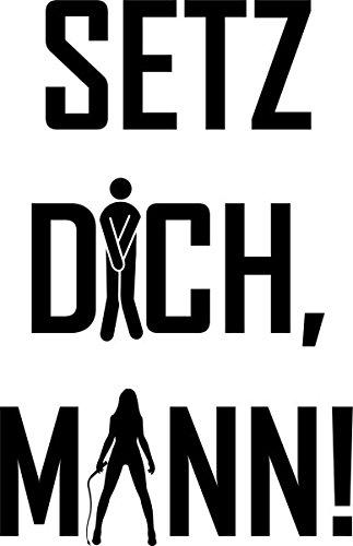WC Deckel Aufkleber, Setz Dich Mann Toiletten Tattoo, Klo Sticker,Bad Deko Wandtattoo Spruch Toilettendeckel Tattoo lustig Türaufkleber Badezimmer 3C007