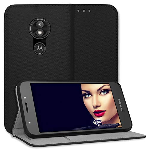 mtb more energy® Schutz-Tasche Bookstyle für Motorola Moto E5 Plus/Moto E Plus 5. Gen. (6.0'') | schwarz | Kunstleder | Klapp-Cover Hülle Case