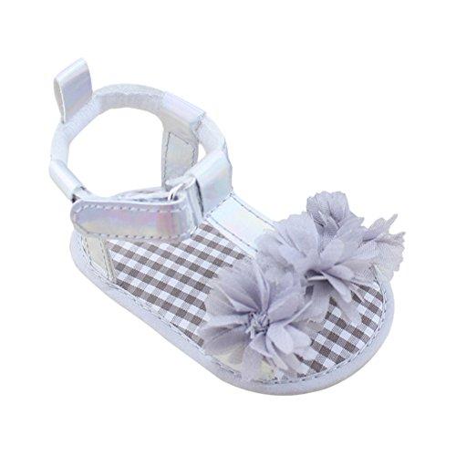 Etosell Bebe Fille D'ete Anti-derapant Princesse Sandals 0-18 M Gris