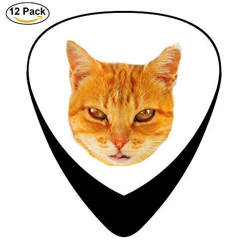 Ginger Tom Guitar Picks - Celluloid Plectrums for Guitar Bass,12 pack - Ginger Tom