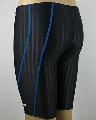 Uomo Traspirante Quick Dry Pantaloni di Nuoto Pantaloncino Costume Nero