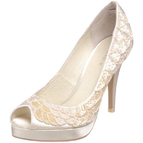 Menbur Wedding Lorena 04324, Escarpins femme Blanc cassé-TR-AF