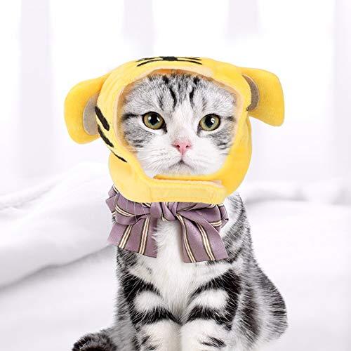 Lustige Katzen-Tiger-Hut - Lustige nette Haustier-Katzen-Kostüm-Tuch Cap Tiger-Muster Hut-Foto Props (Nette Lustige Kostüm)