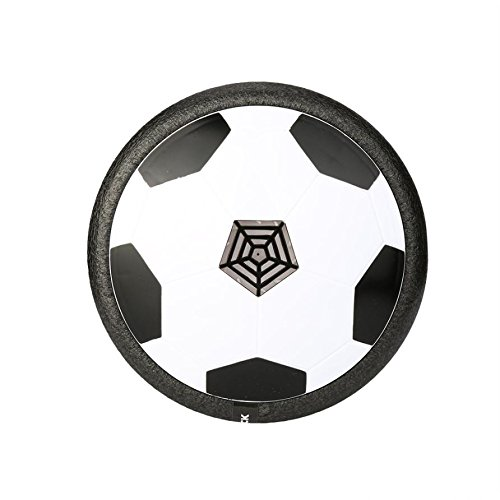 Musica Air Hover Ball Air Power Soccer Training Calcio Sospensione con Musica e luci a LED per Interni ed esterni Toy, Black