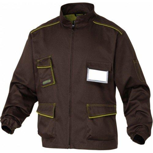 DELTAPLUS Brown work jacket, XL, Brown