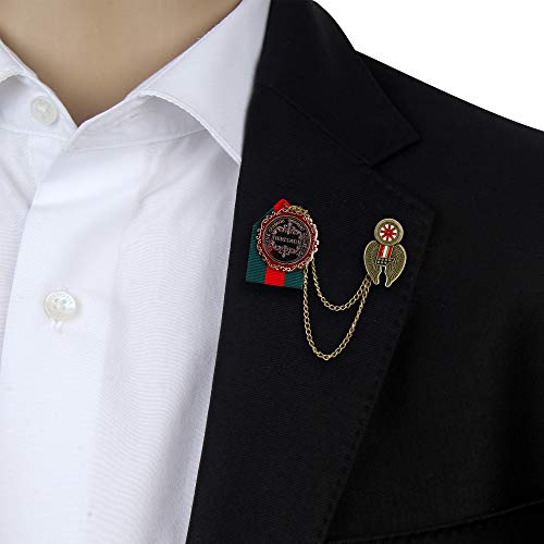 TieOn Brooch for Men Lapel Pin