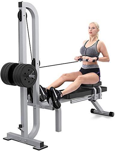 Wxh vogatore magnetico pieghevole per fitness, vogatore a resistenza regolabile, con panca con manubri, attrezzature cardio fitness per esercizi di movimento