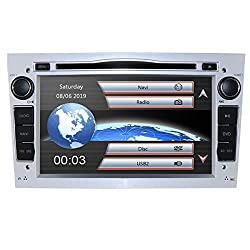 HIZPO 7 inch Car Audio Stereo Double Din In Dash for Opel Vauxhall Corsa Vectra Astra Support GPS Navigation DVD Player Bluetooth Car Radio SD USB Free map
