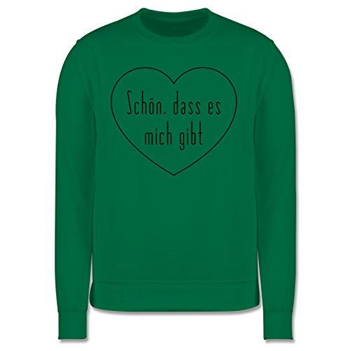 Statement Shirts - Schön, dass es mich gibt - Herren Premium Pullover Grün