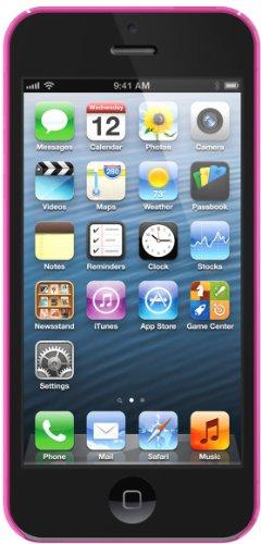 XtremeMac Microshield Thin Schutzhülle für Apple iPhone 5 (nur 0,4mm dünn) Rot Pink