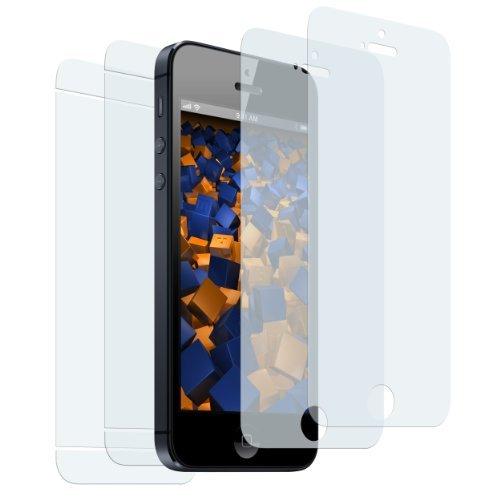 2+2 x mumbi Displayschutzfolie iPhone SE 5S 5 5C Schutzfolie Folie (2 x VORNE und 2 x RÜCK Folie)