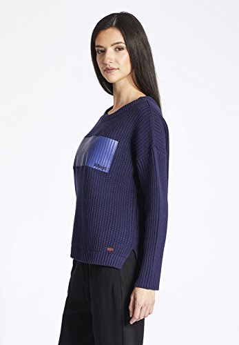 khujo - Pull - Uni - Manches Longues - Femme Bleu