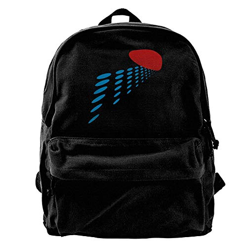 Rghkjlp Heart Perspective Mens and Womens Canvas Backpack School Laptop Bag Unisex