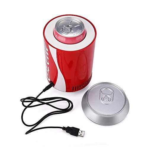 Schwarz Thermoelektrische Weinkühler (L&U USB-Mini-Kühlschrank-Kühler, Mini-Dosen-Kühlschrank, Tragbarer Auto-Kühlschrank für den Auto-DC-5V 12V-Kühlschrank, Weinkühler, kompakt, tragbar und leise,Red)