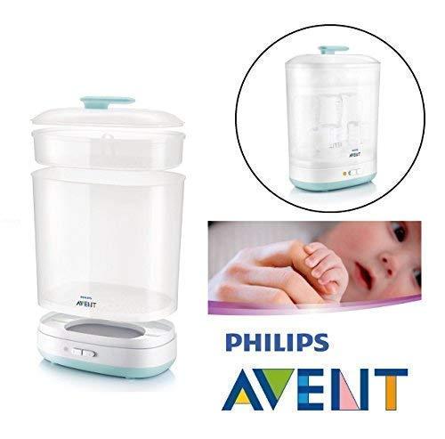 Philips Avent Bébé Bouteilles Électrique Stérilisateur à Vapeur 2-in-1 Compatible avec 6 Bottles