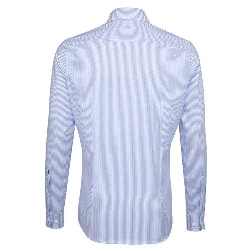 Michaelax-Fashion-Trade -  Camicia classiche  - A righe - Classico  - Maniche lunghe  - Uomo Hellblau(12)