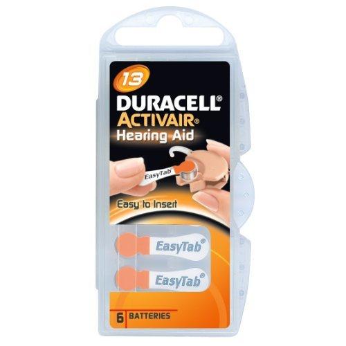 Duracell Activair pour appareil auditif Taille 13 Lot de 5 Paquets de 6 piles