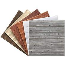 Panel de pared 3D imitación madera grano ladrillo papel tapiz pelar y pegar salón dormitorio decoración