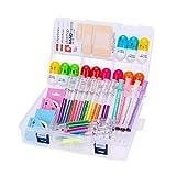34 pcs mignon fournitures scolaires Set, surligneurs de seringue et stylos à aiguilles de soins infirmiers, stylos de la pilule de vitamine Cool cadeaux pour infirmière étudiant