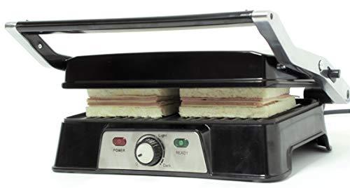 Rebajas !! Parrilla Eléctrica de contacto 3 en 1, Grill, Pannini y Plancha de Asar, Regulador de Temperatura...